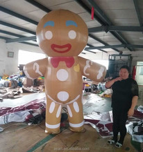 Outdoor activities are decorated with giant inflatable biscuit costume activities cartoon