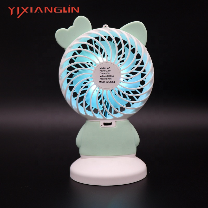 Household Appliances Fans Portable Handheld Fan Summer Home Small Fan Cute Cartoon Bear Usb Charging Fan Study Table Lamp Fan Let Our Commodities Go To The World