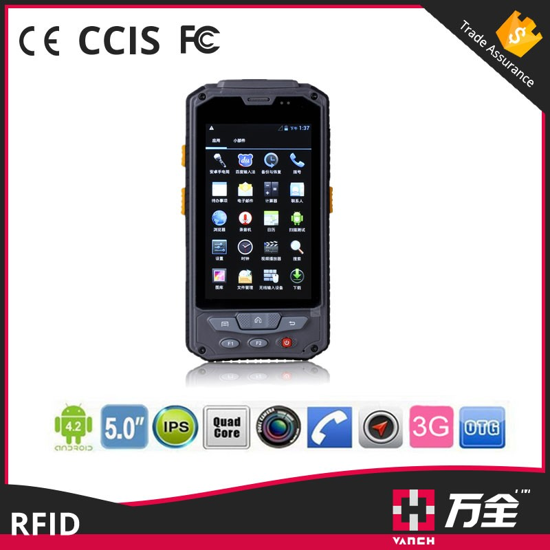 UHF RFID Handheld Reader /Mobile Reader with WIFI / GPS / GPRS / Barcode