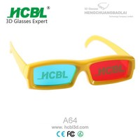 Platic Frame Red Blue Cyan Anaglyph 3D Glasses for 3D Movie Game / PC / Magazine / Books
