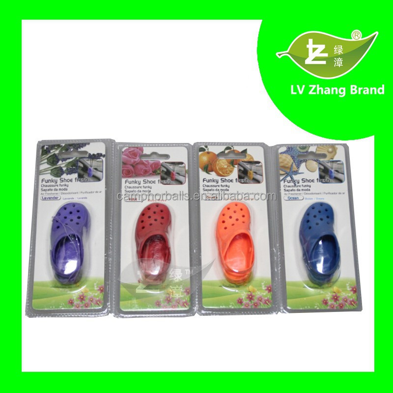 Long-lasting Fragrance Shoe Shape Aroma Hanging Car air freshener For Promotion