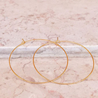 Large Hoop 14K Gold Plating Hoops Big Wire Earrings Earrings For Women Gold Hoops Earrings NE400018