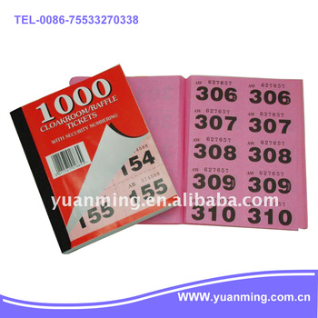raffle ticket book