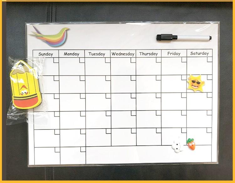 Magnetic Weekly Calendar For Refrigerator : Hot sale magnetic dry erase monthly calendar kit for