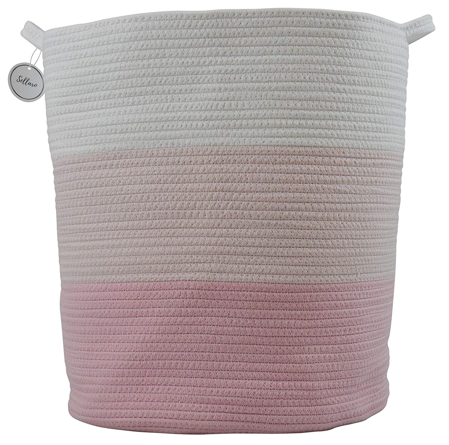 Extra Large Cotton Rope Basket Baby Nursery Hamper Décor And Storage Toy