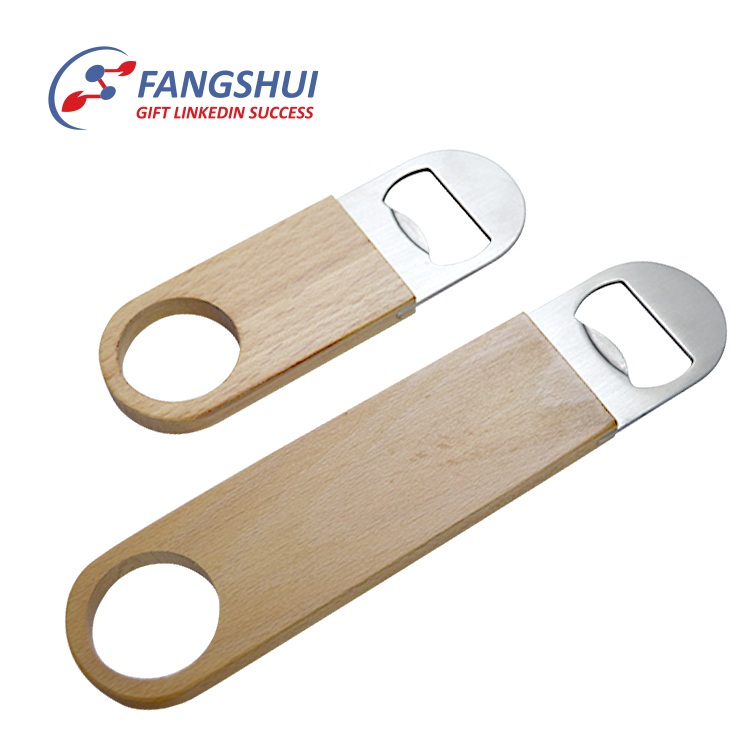 Canada hot selling push down the wooden bottle opener wholesale