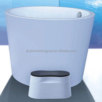 China Small White Acrylic Indoor Portable Spa Tub Soaking Bathtub Dimensions Product On Alibaba