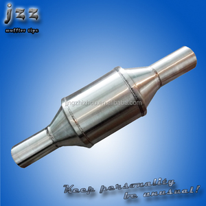 JZZ High Performance car Ceramic or Metal Real Catalytic Converters Muffler for Exhaust