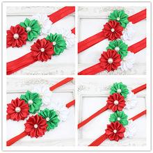 Envío libre hermoso patrón los niños accesorio del pelo adornos de navidad diademas