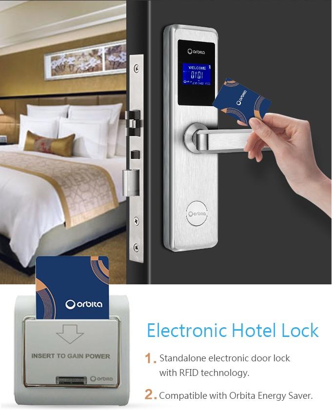 Orbita Thông Minh RFID Thẻ Hoạt Động Khóa An Ninh Điện Tử Phòng Khách Sạn Khóa Cửa với Hệ Thống Quản Lý