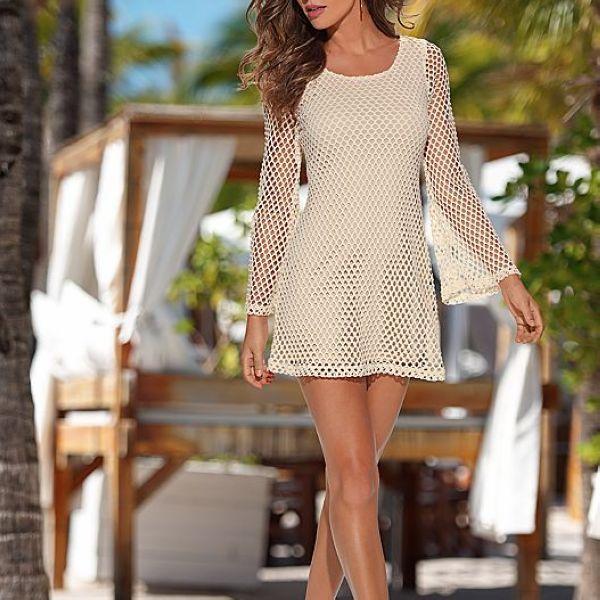 Mano De Alta Calidad Vestido De Crochet Patrones Libres - Buy ...
