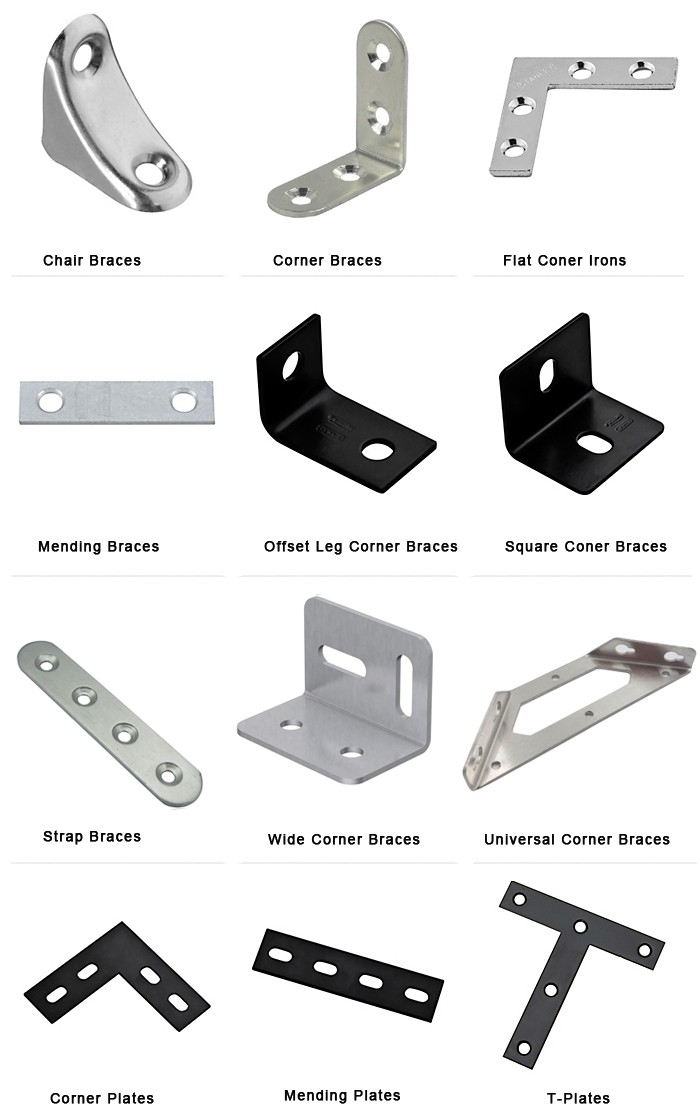 H Duty Galvanized Angle Brackets Corner Brace Joints