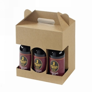 6 pack 16 oz bottle cardboard carriers box