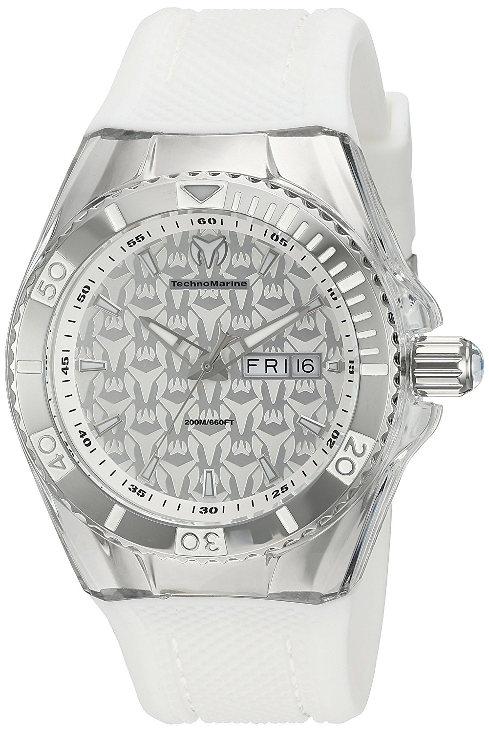 Technomarine Men's TM-115209 Cruise Monogram Analog Display Swiss Quartz White Watch