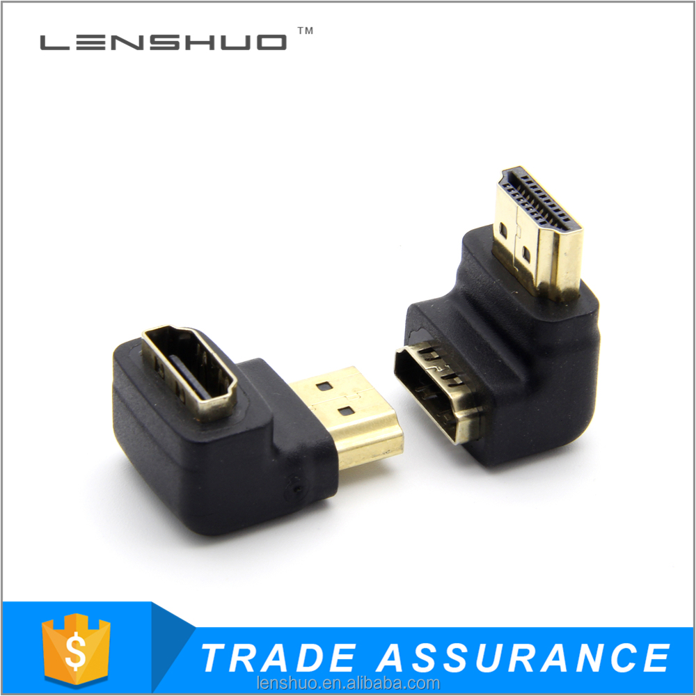 hdmi adapter 90 degree male to female coupler
