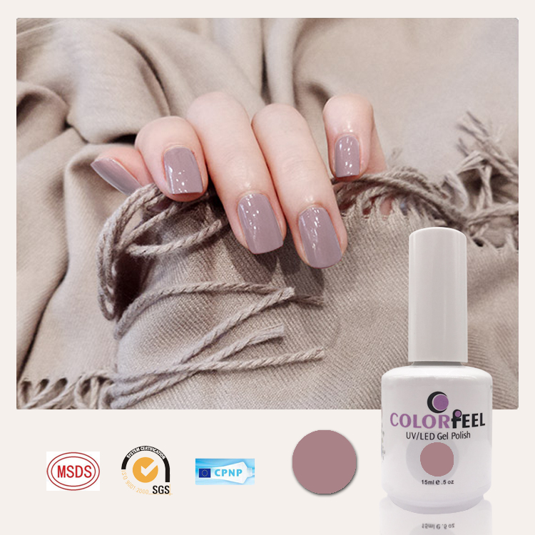 Colorfeel 160 colors free sample 7.3ml Soak off OEM ODM private label nail supplier uv led gel nail polish
