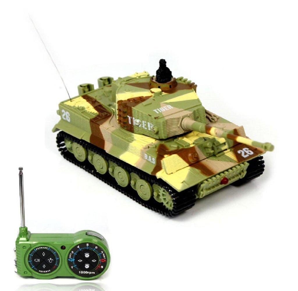 Rukiwa Mini 1:72 49MHz R/C Radio Remote Control Tiger Tank 20M Kids Toy