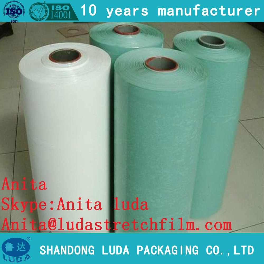 Luda Casting Processing Type and LLDPE Material white silage wrap film