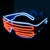 Party Accessories Neon Light Electroluminescent EL Equalizer Glasses With Custom Logo