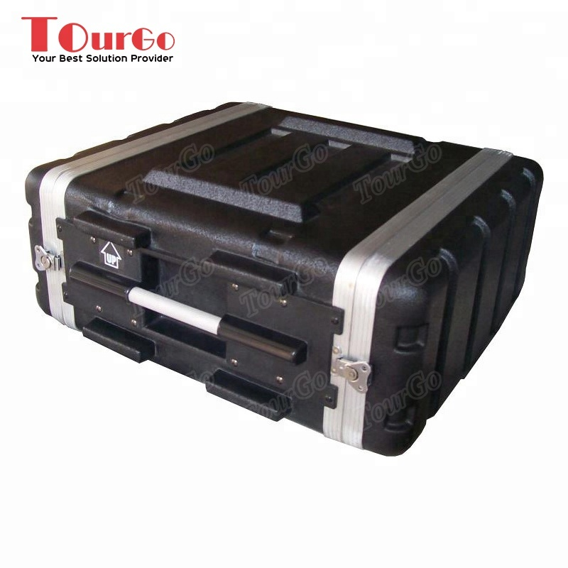 "TourGo 19 Inch 4 Space ABS Rack <strong>Case</strong> - 4U - 17"" Body Depth"