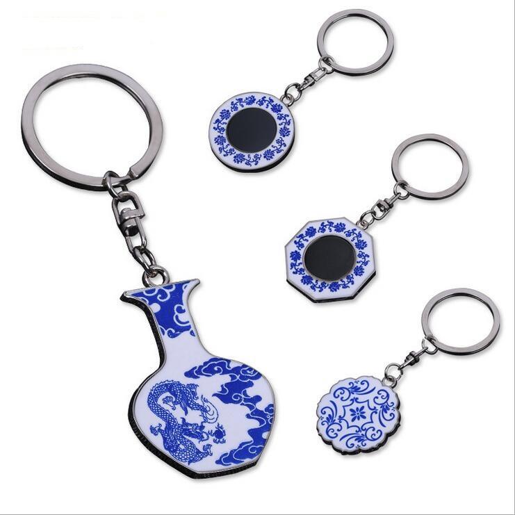 132d1cd3997b Custom Chinese Blue White Porcelain Vase Keychain - Buy Porcelain ...