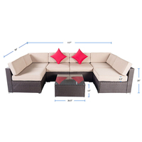 Fashionable Outdoor All-Weather Resistance sofa furniture wicker