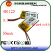 Rechargeable 55mah 3.7v Li-polymer Battery 401120 For Sale With Reliable Quality