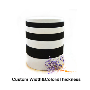 low price black white polyester material crochet elastic band webbing for clothing