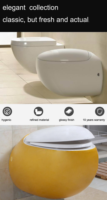 중국 싱크 가격 화장실 벽 플러시 화장실 골드 세라믹 화장실 달걀 모양 꽃병 toileteries 위생 팬
