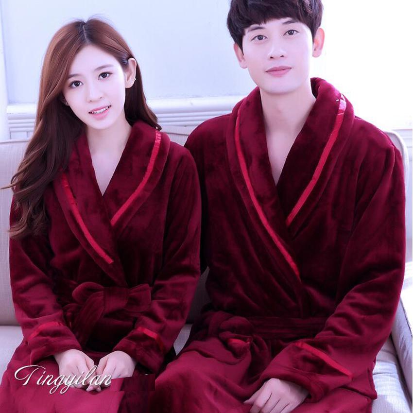 2019 Autumn Winter Fleece Soft Bathrobe With Hood Ladies