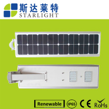 60W hot promotional price novel style high capacity LiFePO4 Battery Ip65 led lights solar street light without pollution