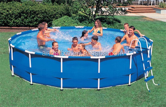 Intex metal frame pool folding swimming pool for sale