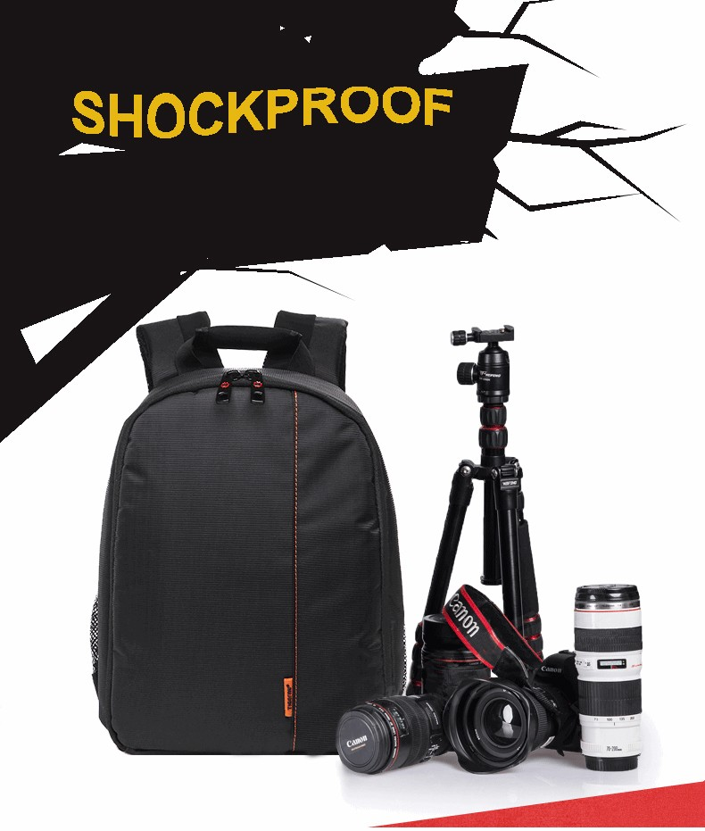 Waterproof outdoor shoulder camera bag backpack for canon eos 600d 650d nikon d3200 d5100 d5200 digital dslr camera accessories
