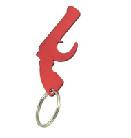 promotion cheap metal gun shape beer bottle opener keychain/keyring
