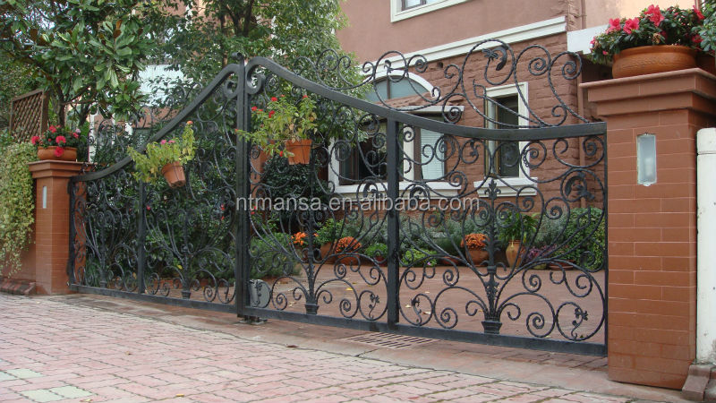 Fashion Garden Wrought Iron Gate Designs Or Decorative
