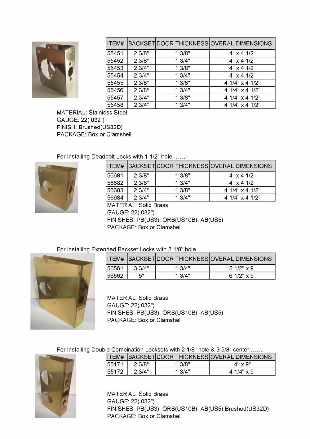 Stainless Steel Entry Best Bore Door Reinforcer Kit Buy