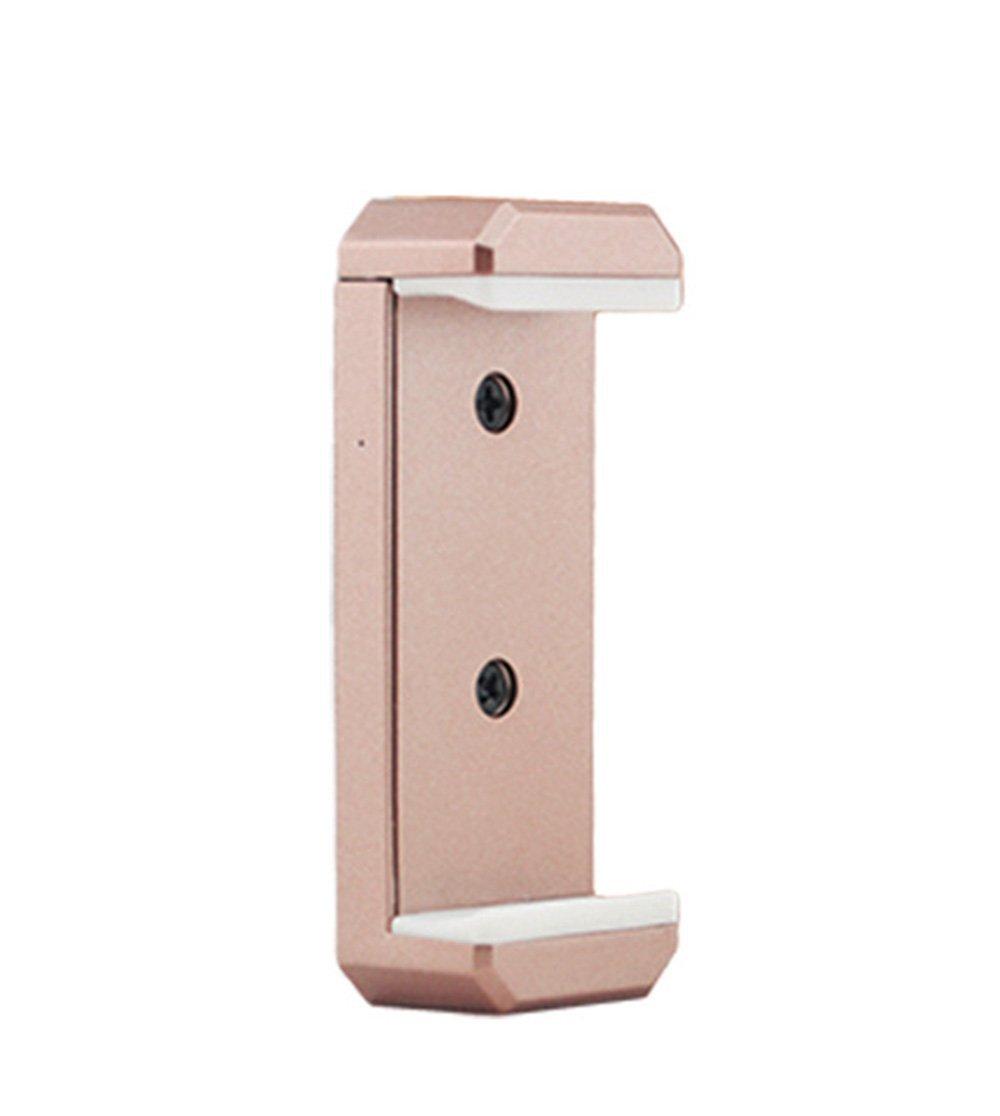 Owoda Cellphone Extended Holder Clip Adjustable Stand Head for Monopod Tripod / DJI Phantom 3S FPV Monitor Bracket (Cellphone clip-Rose Gold)