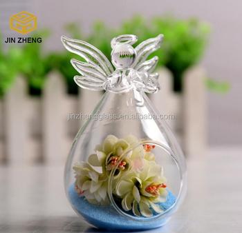 Diy Hanging Air Plant Terrarium Kit Beautiful Angel Glass Vase Buy