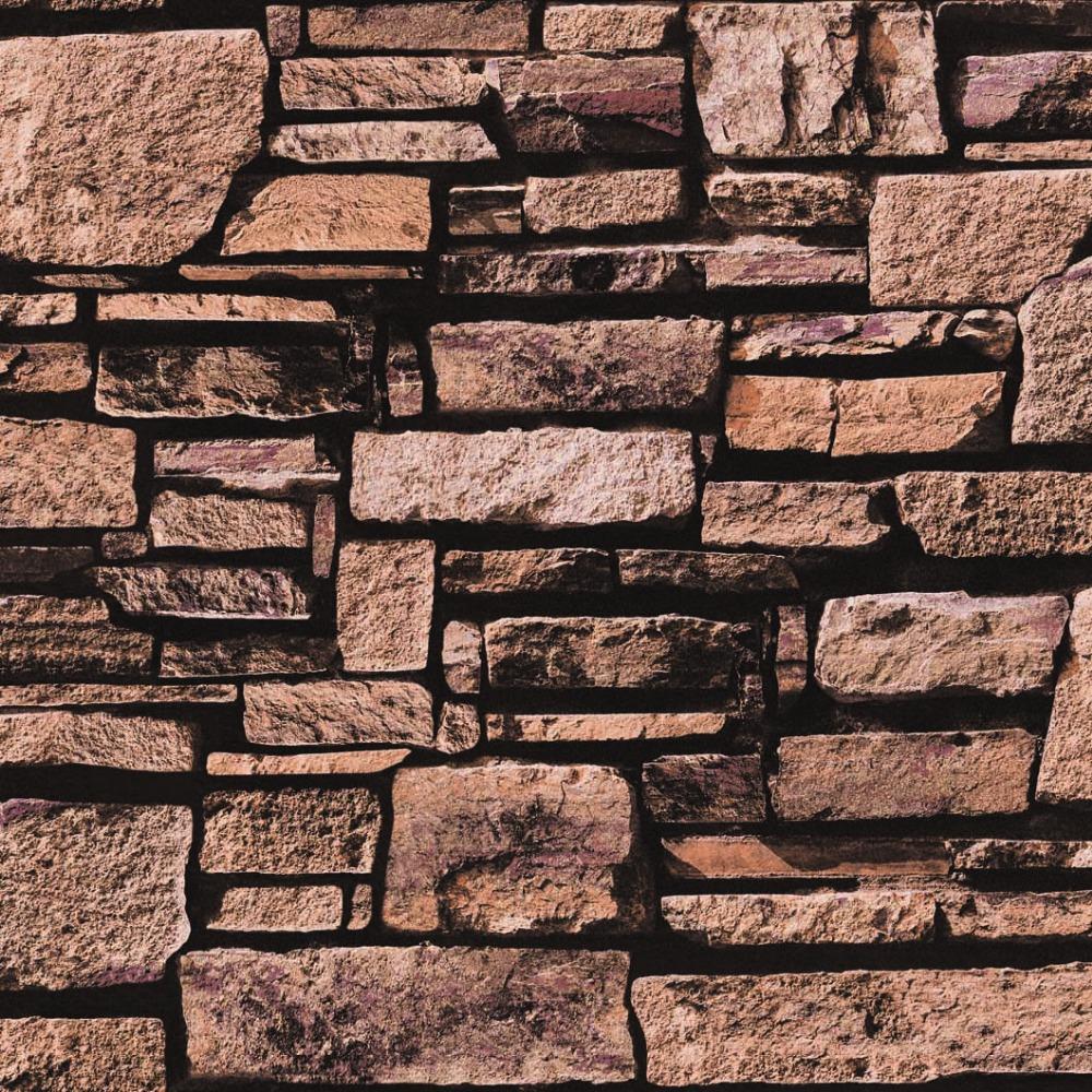 Stone Wall Paper newest design beautiful washable pvc waterproof 3d stone wallpaper