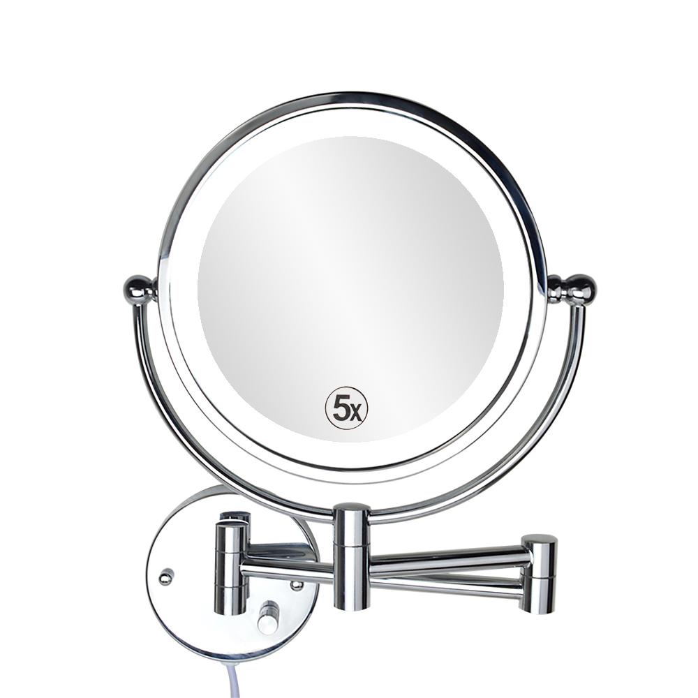 dp with lighted makeup chrome personal light com sided conair double lighting amazon magnifying mirrors polished mirror beauty
