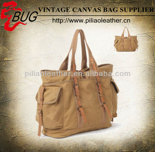 2013 Newest Canvas Handbag /waxed canvas vintage tote bag