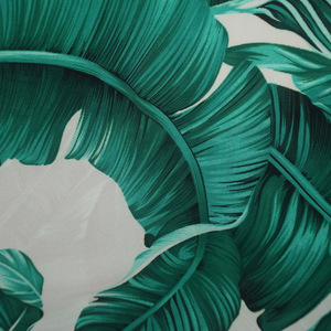 unique design Banana leaf printing cotton fabric for bed sheet