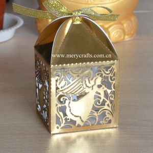 Birthday giveaways box for kids, laser cut angel candy box, party favor boxes for table decorations