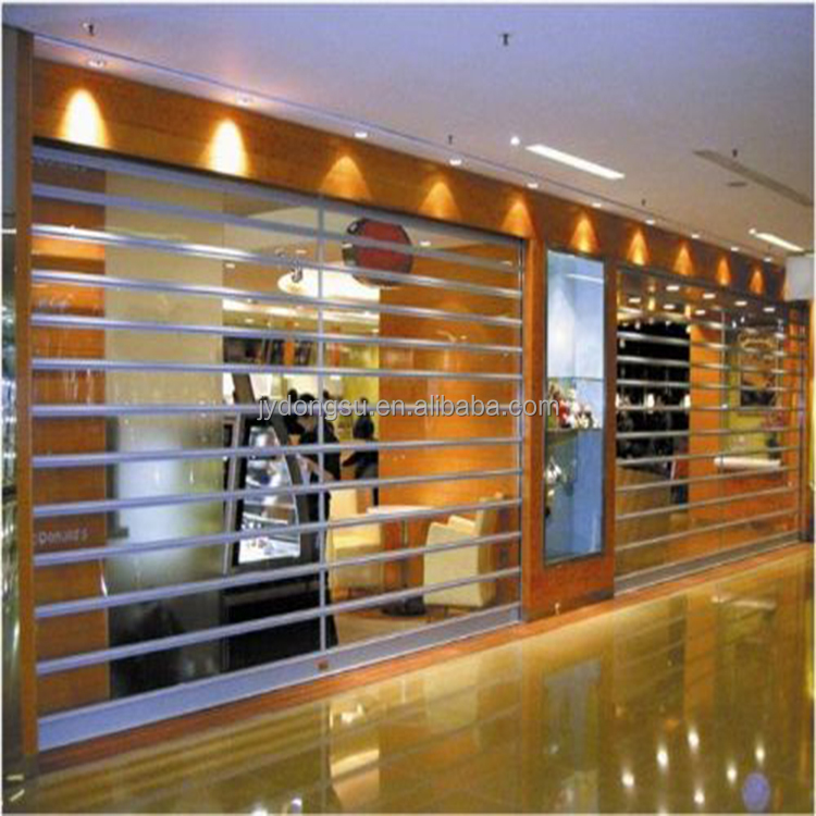 Commercial Used High Visibility Transparent PC Roller Door Slats