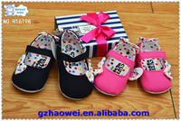 Ballet style colorful spot bowknot baby cloth shoes