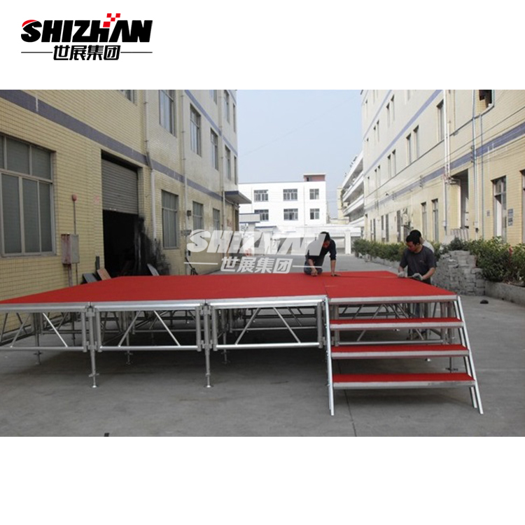 Aluminum folding lighting truss used portable stage for sale