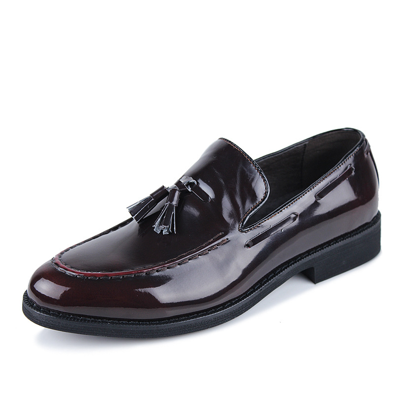 2015 Vintage Leather Tassel Brogues Oxfords Mens Stylish Fashion Dress Slip-on Shoes British and England Style Trendy New MO4521