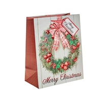 Wholesale Cheap Custom Pattern Personalized Small Fancy Decorative Christmas Paper Gift Bags