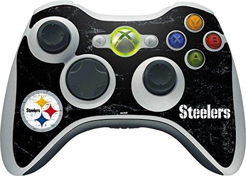 NFL Pittsburgh Steelers Xbox 360 Wireless Controller Skin - Pittsburgh Steelers Distressed Vinyl Decal Skin For Your Xbox 360 Wireless Controller