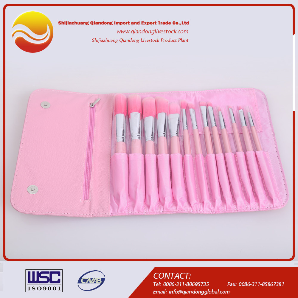OEM 10 piece cosmetic brush set make up brushes